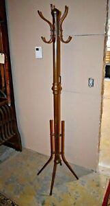 Antique Large Brass Coat Rack, Hall Tree