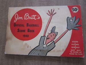 Rare 1949 Jim Britt's Boston Red Sox/Boston Braves Score Book/Year Book
