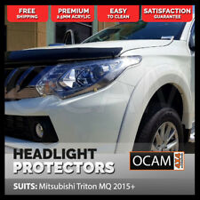 OCAM Headlight Protectors for Mitsubishi Triton MQ 2015-17 Headlamp Covers