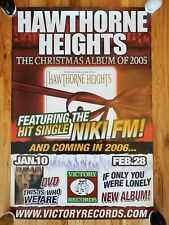 Hawthorne Heights - The Silence In Black And White Promo Poster! Rare!