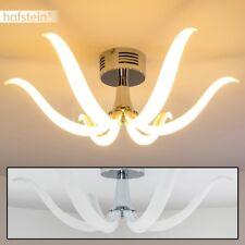 Lustro Soffitto Design Moderno Salotto Metallo Cromo Ingresso Camera Luce LED