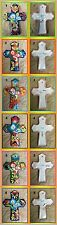 """S4 Cross Calla Lilly 11"""" Crosses Mexican Talavera Pottery Hand Crafted art Mx"""