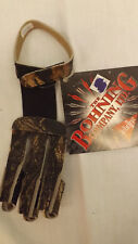 Bohning Traditional Camo Leather 3 Finger Shooting Glove sz X-Small
