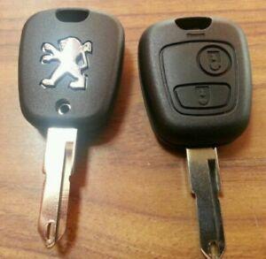 Hülle Schlüssel Funkschlüssel System Fernsteuerung Peugeot 206 206cc 206+2