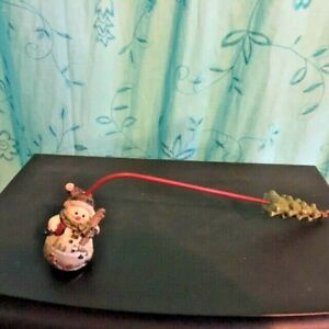 """Home Interiors Snowman Candle Snuffer Christmas Tree Handle 10.5"""""""