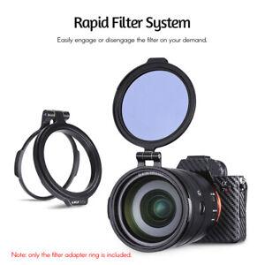 UURIG 82mm Rapid Filter System Camera Lens ND Filter Metal Adapter Ring for DSLR