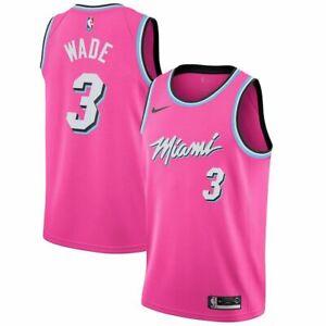 NWT New Miami 3 WADE  Swingman Jersey Throwback, Mens pink,Size M-2XL