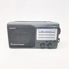 Sony Model ICF-34 - 4 Band AM/FM/TV/Weather AC&DC Powered Radio Vintage