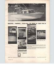 1961 PAPER AD 29' Owens Yacht Motorboat Boat Summercraft Sailboat