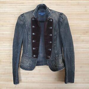 Vintage Ralph Lauren Military Napoleon Brown Jean Jacket Women's Size S