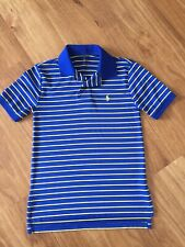Polo by Ralph Lauren Boys Cobalt Blue & Yellow Striped Polo T-Shirt Size S/8-10Y