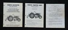 1988 Kubota L 245hc Tractor L 244 L 252 L 255 Cultivator Owners Amp Parts Manuals