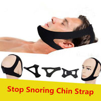 Anti Snore Belt Stop Snoring Chin Strap Anti Apnea Jaw Support Solution Sleep  !
