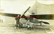 More details for real photo postcard of sydney pickles monoplane at west auckland, county durham