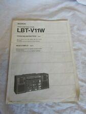 Sony LBT-V11W Instruction Manual