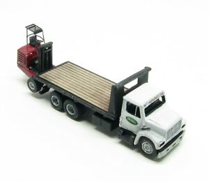 """N Scale """"I"""" Class 16 Ft. Deck Freight Delivery Truck w/Donkey Forklift Kit(82)"""