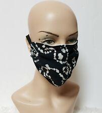 Black & White Batik Face Cover Face Masks