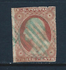 Bigjake: #10a, 3 cent Washington Imperf Type II with Green Cancel
