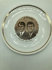 John Kennedy and Robert Kennedy In Memoriam Plate 1960s