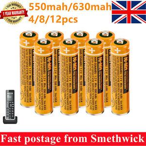 Panasonic NI-MH AAA Rechargeable Batteries for Cordless Phones KX-TG 550/630mAh