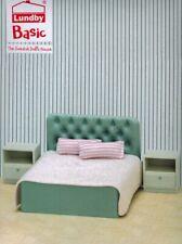 Lundby 60.3064 Smaland Basic Schlazimmer Set - Bett Badewanne Puppenhaus 1:18