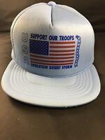 VTG Operation Desert Storm USA American Flag Support Our Troops Snapback Hat