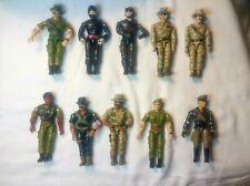 Vintage 1986 Lanard Corps Action Figure Lot Of 10 Gi Joe KO Knock Off