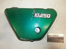 77 Kawasaki KE250 KE 250 Vintage Genuine Side Left Green Panel Frame Cover OEM