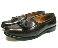Allen Edmonds Bridgeton Brown Patent Leather Brogue Loafer Dress Shoes Men 11.5D