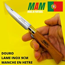 Couteau de poche pliant artisanal Portugais MAM DOURO en hêtre 19cm lame inox