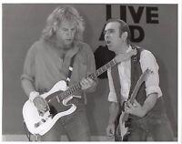 RICK PARFITT STATUS QUO PHOTO+ROSSI LIVE AID 1985 12INCH UNRELEASED UNIQUE IMAGE