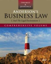 Anderson's Business Law and the Legal Environment by Marianne Moody Jennings and