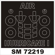 Montex 1/72 Hurricane I (Early) Paint Mask for Airfix kit (outside)