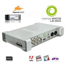 Matrox MXO2 LE Max I/O-Box mit ExpressCard34 schneller Encoder H.264 MP4 HD-SDI