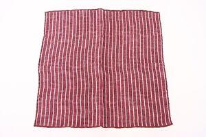 NWT Brunello Cucinelli Textured Linen-Cotton Chalk-Striped Print Pocket Sq  A176