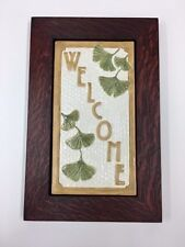 Fay Jones Day Gignko Welcome Tile Framed  Arts & Crafts Mission Style Oak Park