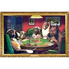 C.M. Cooldige A Bold Bluff Dogs Playing Poker Art Print Poster Funny 24x36