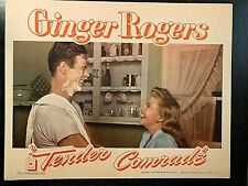 TENDER COMRADE ORIGINAL LOBBY CARD 1943, GINGER ROGERS, ROBERT RYAN