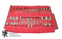 52 Piece Supreme Silverplate Flatware Set Concept Pattern Mid Century Modern