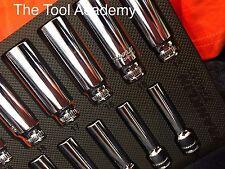 Franklin outils 12 pièce Douille profonde Set 8 - 19mm 3/8 Dr finition miroir à