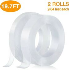 Nano Double Sided Tape,Removable Gel Grip Tape Transparent Sticky Tape,Reusable