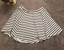 Cotton On Juniors Sz Medium White Black Striped Skirt Circle Skater Flare Flowy