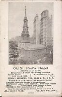 Pamphlet - Old St. Paul's Chapel - Erected A.D. 1766 - NEW YORK CITY