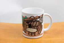 Fly Fishing Mug Cup Fisherman Outdoor Rod and Reel Lure Fish Net