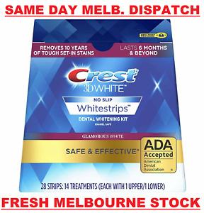 CREST 3D 28 x Glamorous White Dental Teeth Whitening Strips Kit 14 Pouches NEW