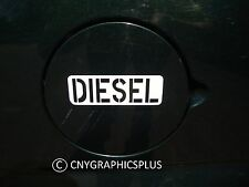 White DIESEL Army Style Decal Sticker for Fuel Gas Cap Tank Power Stroke