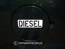White DIESEL Army Style Decal Sticker for Fuel Gas Cap Tank Power Stroke Cummins
