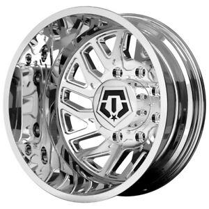 """TIS 544C Dually 20x8.25 8x6.5"""" Chrome Wheel Rim"""