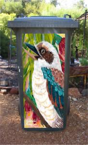 'Chuckles own way' kookaburra wheelie bin sticker