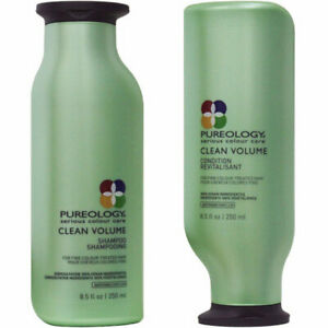 Pureology Clean Volume Shampoo & Conditioner 8.5 oz Set FREE & FAST Shipping